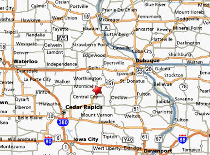 Map To Great Jones County Fair Monticello Iowa Images