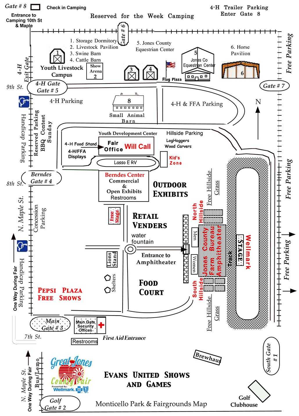 Maps and Directions | The Great Jones County Fair presented by Wellmark